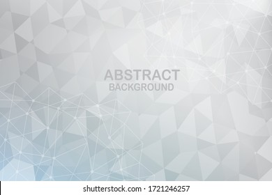Abstract white polygon background. Vector Illustration.