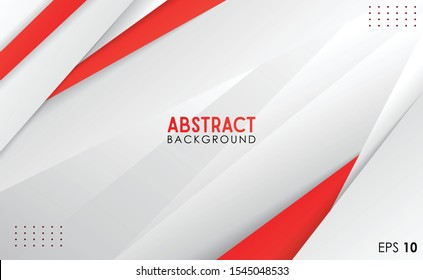ABSTRACT WHITE RED BACKGROUND TEMPLATE VECTOR