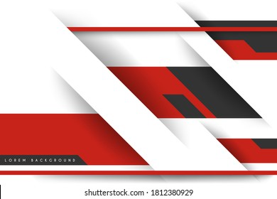 Abstract white and red simple background