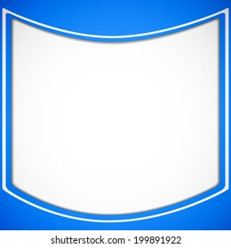 abstract white rounded square pattern on blue sky background (vector)
