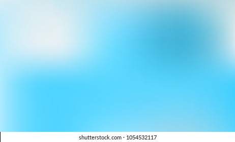 Abstract White and Skyblue Gradient blurred vector background.