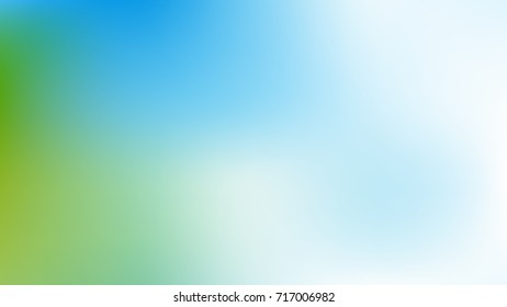 Abstract  White, skyblue and green Gradient blurred vector background