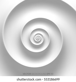 Abstract white spiral background.