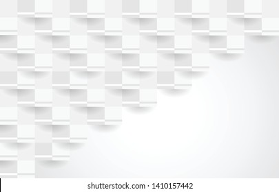 Abstract white texture background design. 3d paper for book, poster, flyer, cover, website, advertising. Vector illustration