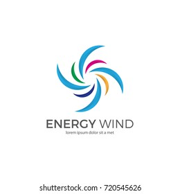 abstract wind logo template.