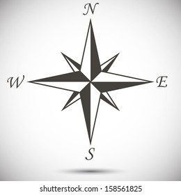 Abstract wind rose on white background. eps10