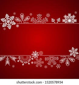 Abstract Winter Design Background with Snowflakes for Christmas and New Year Poster. Vector Illustration EPS10