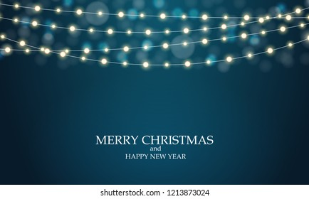 Abstract Winter New Year and Merry Christmas Natural Background. Vector Illustration EPS10