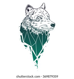 Abstract Wolf Drawing Images Stock Photos Vectors