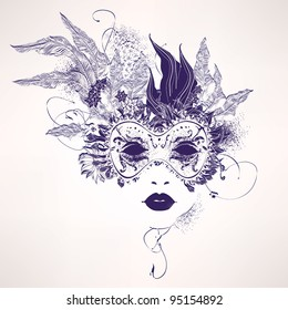 Masquerade Mask Drawing Images Stock Photos Vectors Shutterstock