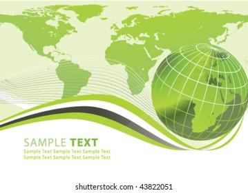 Abstract world globe illustartion vector design