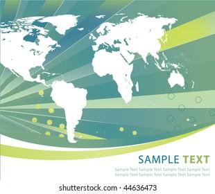 Abstract world globe illustration vector design