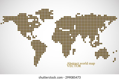 Abstract world map letters english alphabet vectores en stock abstract world map colorful pixel background vector illustration eps 10 gumiabroncs Choice Image
