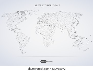 Abstract world map. Connection.