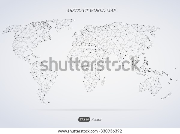 Abstract World Map Connection Stock Vector (Royalty Free ... on christmas world map, coniferous world map, education world map, technology world map, light world map, money world map, deleting world map, reading world map, food world map, connected world map, resources world map, internet world map, love world map, jumping world map, business world map, media world map, open world map, change world map, cutting world map, teaching world map,