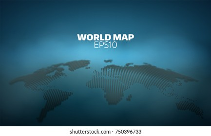 Abstract world map dot grid background. Vector hemispheres demonstration. geography atlas