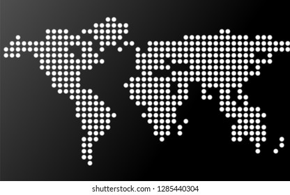 Abstract world map of dots. Vector