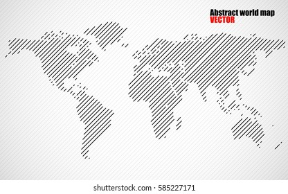 abstract world map with lines world stripes map vector
