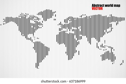 Abstract world map letters english alphabet vectores en stock abstract world map with lines world stripes map vector gumiabroncs Choice Image