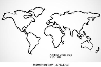 Abstract world map. Vector illustration