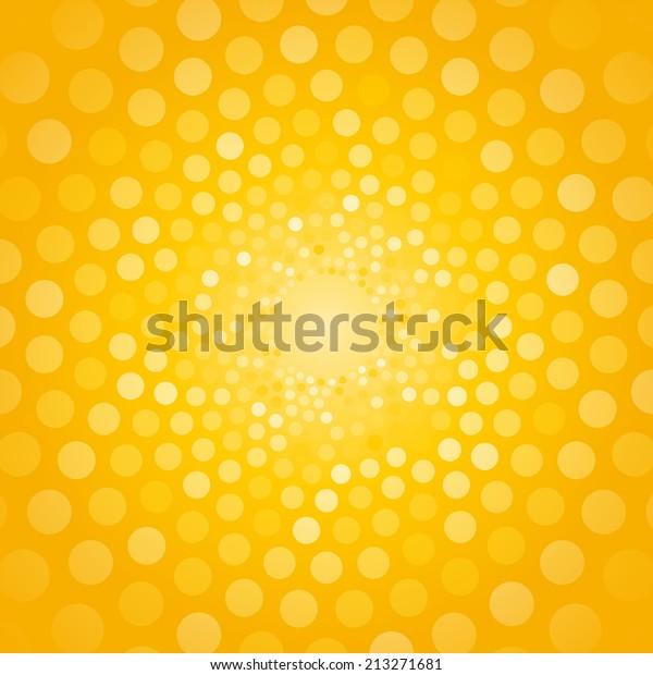 小さな円で作られた抽象的な黄色の背景