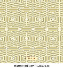 Abstract yellow cube pattern Geometrical texture with cubes. Vector illustration