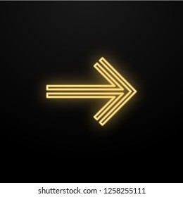 Abstract yellow light arrow speed direction on black design modern futuristic technology background vector.