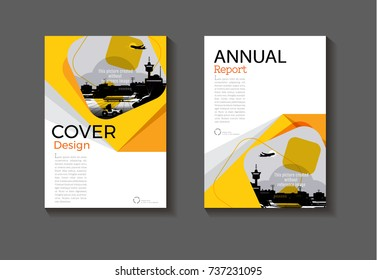 Abstract Circle Yellow Cover Design Modern Stock Photo (Photo ...