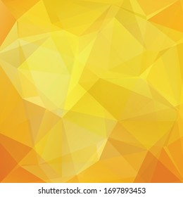 Abstract yellow mosaic background. Triangle geometric background. Design elements. Vector illustration