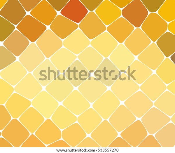 Abstract yellow mosaic pattern. Abstract background consisting of elements of different shapes arranged in a mosaic style. Vector illustration