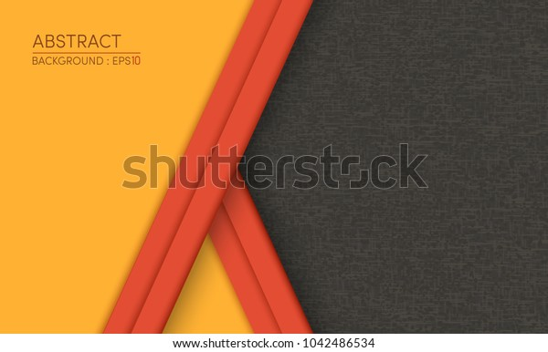Abstract Yellow on black design modern background vector illustration.