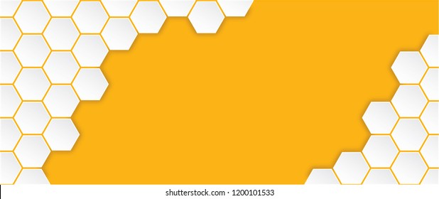 Abstract yellow orange beehive raster background plate icon. Honeycomb bees hive cells pattern sign. Funny bee honey shapes vector icons for banner, card or wallpaper. Fun texture hexagon cell signs.