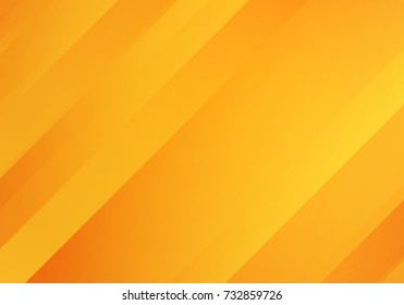 Abstract Yellow and Orange Colored Background with Diagonal Stripes. Vector Geometric Minimal Pattern. Modern Sleek Texture