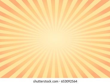 Abstract Yellow Orange rays background. Vector EPS 10 cmyk