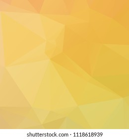 Abstract yellow polygon texture background