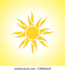 Abstract yellow sun background.