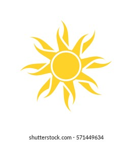 Abstract yellow sun icon
