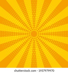 Abstract yellow sun rays. Summer vector sunray illustration for design