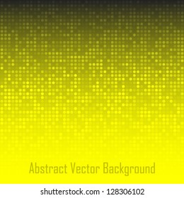 Abstract Yellow Technology Background, vector illustration