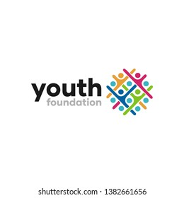 Abstract Youth Foundation Logo Design Idea