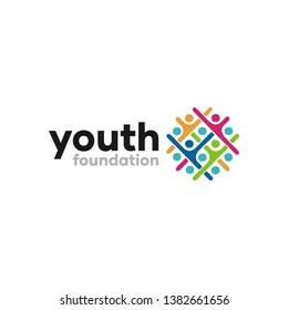 Abstract Youth Foundation Logo Design Idea