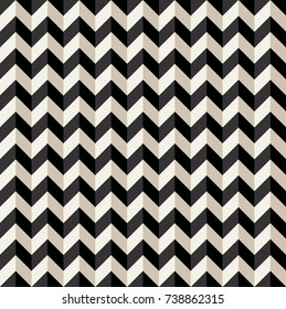 Abstract zigzag background seamless with black.Repeating geometric.Chevron pattern vector