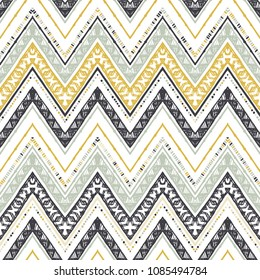 Abstract zigzag pattern for cover design. Retro chevron vector background. Geometric decorative seamless