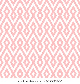 abstract zigzag and rhombus pattern background with pink color.native pattern