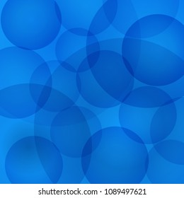 Abstractbackground with blue circles. Vector illustration