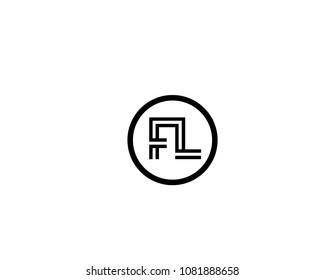 Abstract,Creative and unique alphabet letters  FL,LF,F and L logo