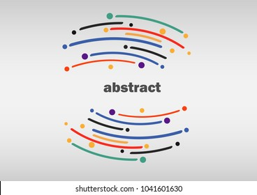 abstraction, background, creative cover, color lines and geometric shapes