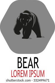 the abstraction of the logo bear,vector