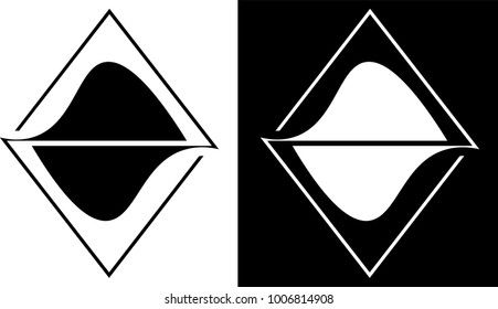 abstraction from the outlines of triangles is isolated and against a dark background design business logo