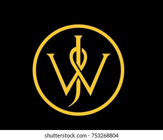 abstract,minimal WJ,JW logo